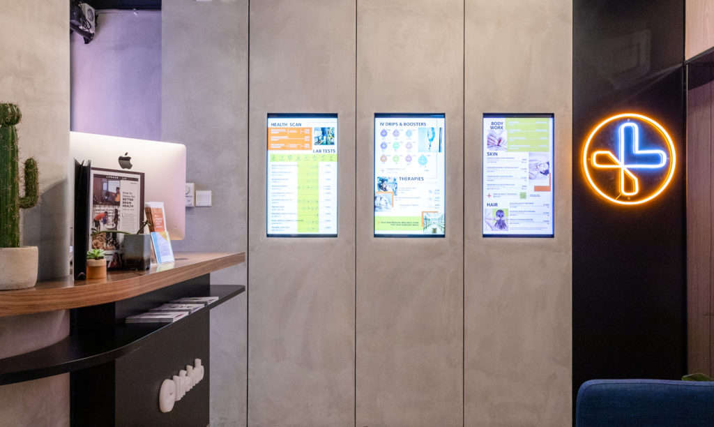 LifeHub Digital Menu wall