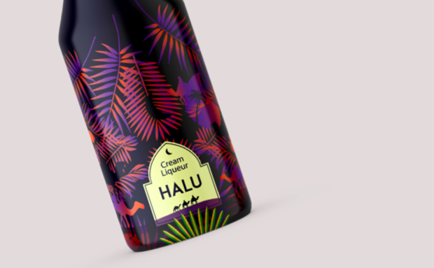 Halu Cream Liquor Label design